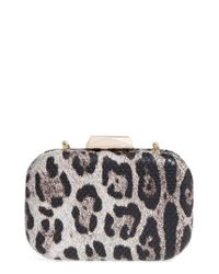 Natasha Couture | Multicolor Leopard Print Faux Leather Frame Clutch | Lyst