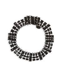Natasha Couture - Black Embellished Chain Choker - Lyst