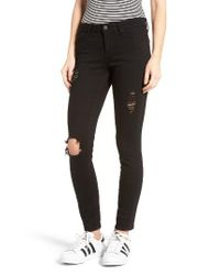 Articles of Society | Black Karen Ripped Crop Skinny Jeans | Lyst