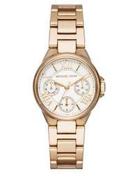 MICHAEL Michael Kors | Metallic Mini Camille Multifunction Bracelet Watch | Lyst