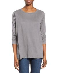 Bobeau | Gray Butter High/low Top | Lyst