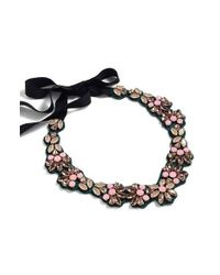 J.Crew - Black Jewel Reflection Bib Necklace - Lyst