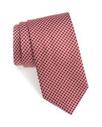 David Donahue - Red Geometric Silk Tie for Men - Lyst