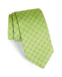 David Donahue | Green Geometric Silk Tie for Men | Lyst