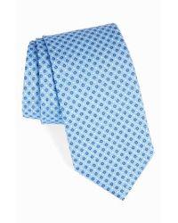 David Donahue | Blue Dot Silk Tie for Men | Lyst