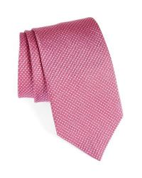 David Donahue | Pink Geometric Silk Tie for Men | Lyst