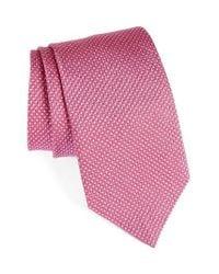 David Donahue - Pink Geometric Silk Tie for Men - Lyst