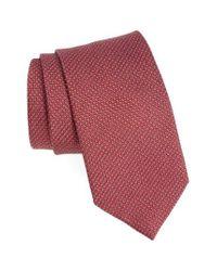 David Donahue - Red Medallion Silk Tie for Men - Lyst