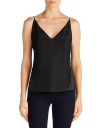 J Brand | Black Lucy Silk Camisole | Lyst