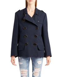 Dolce & Gabbana | Blue Cotton Double Breasted Jacket | Lyst