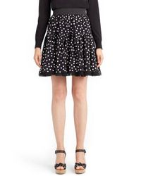 Dolce & Gabbana - Black Polka Dot Silk Skirt - Lyst