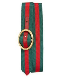 Gucci | Red Slider Belt for Men | Lyst