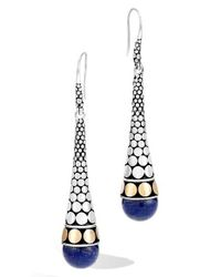 John Hardy | Metallic Naga Buddha Belly Earring | Lyst