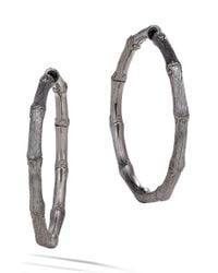 John Hardy | Metallic Bamboo Medium Hoop Earrings | Lyst