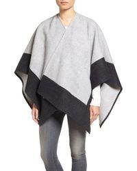 Rag & Bone   Gray Double Face Wool Wrap   Lyst
