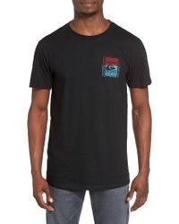 Quiksilver | Black Walled Up Graphic T-shirt for Men | Lyst