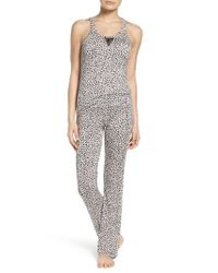 Betsey Johnson | Black Mesh Inset Pajamas | Lyst