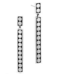 John Hardy   Metallic Dot Linear Drop Earrings   Lyst
