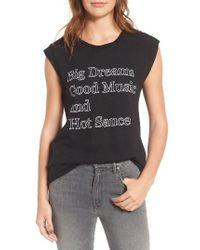 Pam & Gela - Black Big Dreams Kate Muscle Tee - Lyst