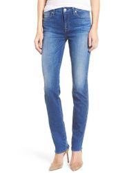 7 For All Mankind | Blue 7 For All Mankind Kimmie Straight Leg Jeans | Lyst