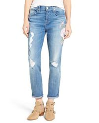 7 For All Mankind | Blue 7 For All Mankind Josefina Embroidered Boyfriend Jeans | Lyst