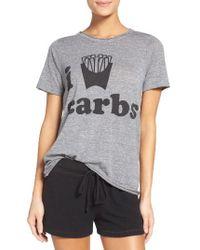 Chaser | Gray I Love Carbs Tee | Lyst