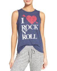 Chaser - Blue I Heart Rock 'n' Roll Tank - Lyst