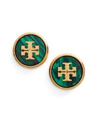 Tory Burch | Multicolor Semiprecious Stone Stud Earrings | Lyst