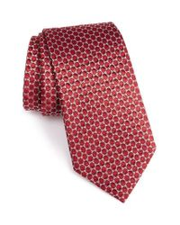 Armani | Red Oval Silk Jacquard Tie for Men | Lyst