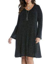 Karen Kane - Black Taylor Diamond Dust A-line Dress - Lyst