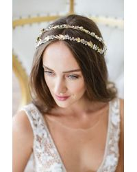 Brides & Hairpins - Metallic Olympia Double Banded Crystal Halo - Lyst