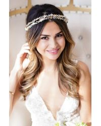 Brides & Hairpins | Metallic Olympia Double Banded Crystal Halo | Lyst
