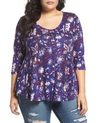 Lucky Brand | Purple Floral Swing Top | Lyst