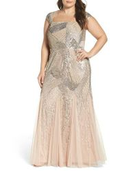 Adrianna Papell | Multicolor Embellished Gown | Lyst
