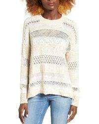 Billabong | White Wandering Wonderland Open Knit Sweater | Lyst