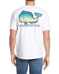 Vineyard Vines   White Dolphin Whale Pocket T-shirt for Men   Lyst