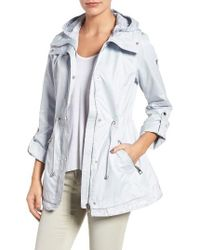 Guess   Blue City Roll Sleeve Anorak   Lyst