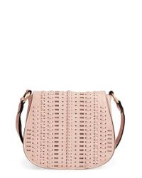 Phase 3 | Pink Woven Saddle Bag | Lyst