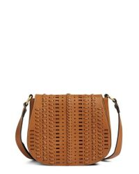 Phase 3 | Brown Woven Saddle Bag | Lyst