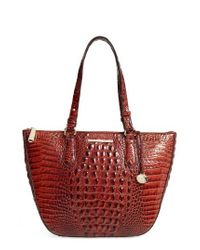 Brahmin | Red Willa Croc Embossed Leather Tote | Lyst