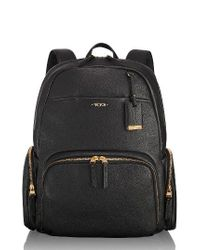 Tumi | Black Calais Leather Computer Backpack | Lyst