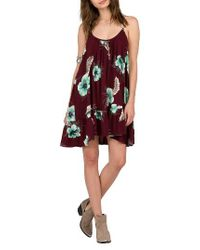 Volcom | Red Stampede Print Dress | Lyst