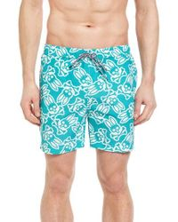 Psycho Bunny | Blue Graphic Swim Trunks for Men | Lyst
