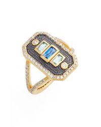 Freida Rothman | Metallic Modern Mosaic Cocktail Ring | Lyst