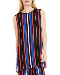 Vince Camuto | Multicolor Multi Stripe Sleeveless Tunic | Lyst