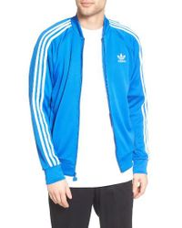 Adidas Originals | Blue Superstar Track Jacket for Men | Lyst