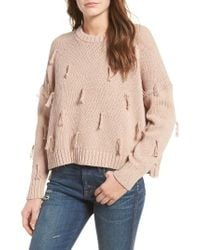 Madewell | Natural Tassel Pullover Sweater | Lyst