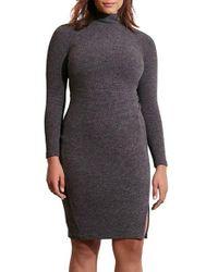 Lauren by Ralph Lauren | Gray Textured Knit Dress | Lyst