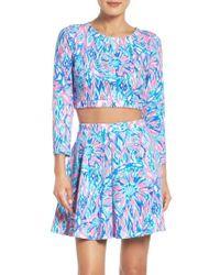 Lilly Pulitzer - Blue Lilly Pulitzer Carlita Two-piece Dress - Lyst