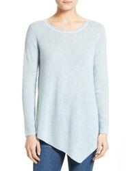 Joie | Blue Tambrel H Asymmetrical Hem Cashmere Sweater | Lyst